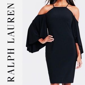 Ralph Lauren: Bell-Sleeve Cold-Shoulder Dress